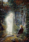 Angel Moroni Painting Framed Prints - The Restoration Framed Print by Lewis A Ramsey
