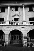 Cumhuriyeti Prints - the restored nicosia post office building TRNC turkish republic of northern cyprus lefkosia Print by Joe Fox