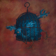 Cage Painting Metal Prints - The Restrictive Nature of Fashion  Metal Print by Kelly Jade King