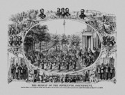 Abraham Lincoln Drawings Posters - The Result Of The Fifteenth Amendment Poster by War Is Hell Store