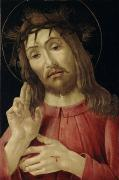 Christ Face Posters - The Resurrected Christ Poster by Sandro Botticelli