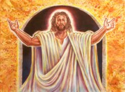 Religious Art Painting Posters - The Resurrection and the Life Poster by Raymond Walker