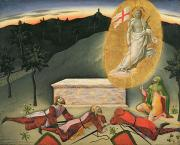 New Testament Paintings - The Resurrection by Master of the Osservanza