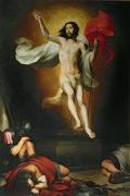Bible Painting Prints - The Resurrection of Christ Print by Bartolome Esteban Murillo