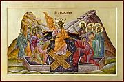 Icon Byzantine Painting Posters - The Resurrection of Christ Poster by Julia Bridget Hayes