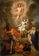 Roman Soldier Paintings - The Resurrection of Christ by Noel Coypel