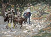 Gouache Paintings - The Return from Egypt by Tissot