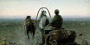 Wheels Painting Prints - The Return Journey Print by Abram Efimovich Arkhipov