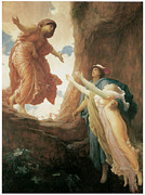 Mythological Painting Posters - The Return of Persephone Poster by Frederick Leighton