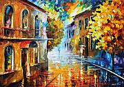Amsterdam Painting Prints - The Return To Etude In Red Print by Leonid Afremov