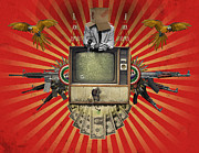 Money Digital Art Prints - The Revolution Will Not Be Televised Print by Rob Snow