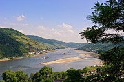 River Rhine Prints - The Rhine panorama Print by Angela Doelling AD DESIGN Photo and PhotoArt