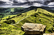 Tor Framed Prints - The Ridge to Mam Tor. Back Tor Derbyshire Framed Print by Darren Burroughs