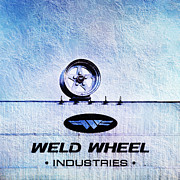 Chrome Mixed Media Prints - The Rim At Weld Wheels Industries  Print by Andee Photography