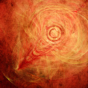 Abstract Digital Art - The Rings of Fire by Scott Norris