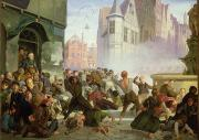 Pre War Prints - The Riot Print by Philip Hoyoll