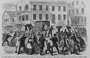 Factory Workers Framed Prints - The Rioting Strikers Attacking Framed Print by Everett