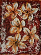 Flower Reliefs Prints - The Rise Print by Tatiana Ilieva
