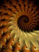 Fractal Art Digital Art Prints - The Rising Sun Print by Amorina Ashton