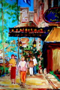 Dinner Paintings - The Ritz Carlton In Spring by Carole Spandau
