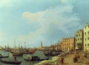 S Palace Paintings - The Riva Degli Schiavoni by Canaletto