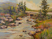 Original Oil Paintings - The River is Wide by Marty Husted