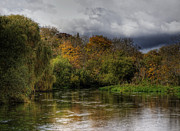 Riverscape - Early Autumn Prints - The river Itchen at Itchen Stoke Print by Neil Howard