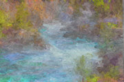 Montana Mixed Media - The River by Jim  Hatch