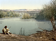 Photochrom Photos - The River Jordan, Holy Land, Jordan by Everett