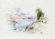 Boats On Water Prints - The River Schuykill Print by Thomas Moran