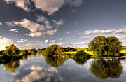 Inn River Framed Prints - The River Severn at Cound  Framed Print by Rob Hawkins