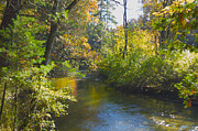 Fall River Scenes Prints - The River  Print by Sheryl Thomas