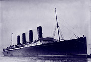 Ships And Boats Prints - The Rms Lusitania, British Ship Print by Everett
