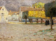 Cobbled Prints - The Road - Songeons Print by Henri Eugene Augustin Le Sidaner
