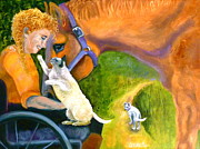 Cat Woman Prints - The Road Ahead Print by Susan A Becker