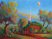 Wicca Paintings - The Road Goes Ever On. by Joe  Gilronan