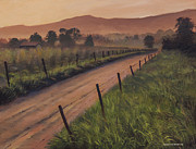 Wine Country Painting Posters - The Road Home Poster by Cliff Wassmann