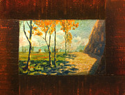 Tuscany Vineyard Oil Paintings - The Road Home I by Christopher Clark