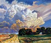 Country Road Painting Posters - The Road Home Poster by John Lautermilch