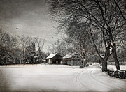 Old Barns Photo Prints - The Road Home Print by Robin-Lee Vieira