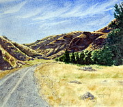 Gravel Road Paintings - The Road Home by Susan Pawley