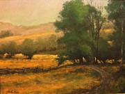 Pasture Scenes Painting Posters - The Road Less Traveled Poster by Jim Gola