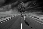 Creative Manipulation Digital Art Posters - The Road Less Travelled Poster by Mindy Mcgregor