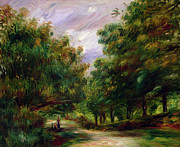 Nearby Posters - The road near Cagnes Poster by Pierre Auguste Renoir