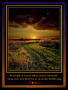 Inspirational Poster Framed Prints - The Road Framed Print by Phil Koch