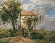 Farmhouse Paintings - The Road to Rueil by Camille Pissarro
