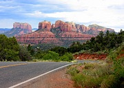 Red Rocks Of Sedona Prints - The Road to Sedona Print by Carol Groenen