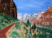 Zion National Park Pastels - The Road to Zion by Jack Spath