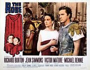 Jomel Files Posters - The Robe, Jean Simmons, Richard Burton Poster by Everett