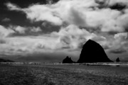 Sandy Beaches Posters - The Rock at Cannon Beach Poster by David Patterson